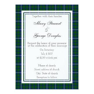 Faire-part de mariage d'écossais de Douglas