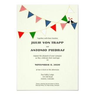Faire-part de mariage d'étamine des USA bilingues Carton D'invitation 12,7 Cm X 17,78 Cm