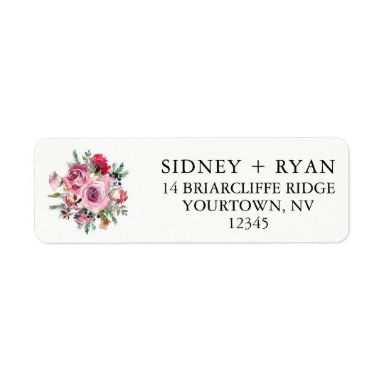 Faire-part de mariage d'étiquettes de adresse de étiquette d'adresse retour
