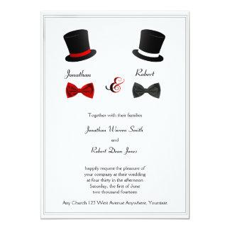 Faire-part de mariage d'homosexuel de chapeaux