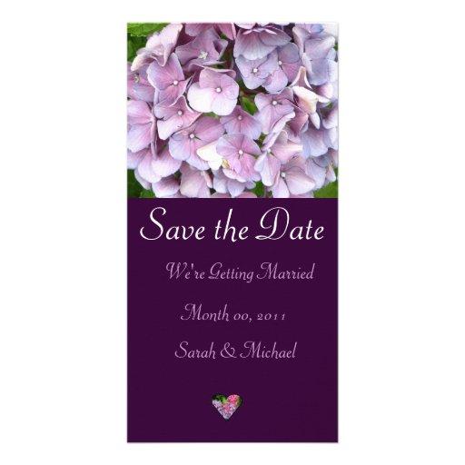 Faire-part de mariage d'hortensia cartes de vœux avec photo