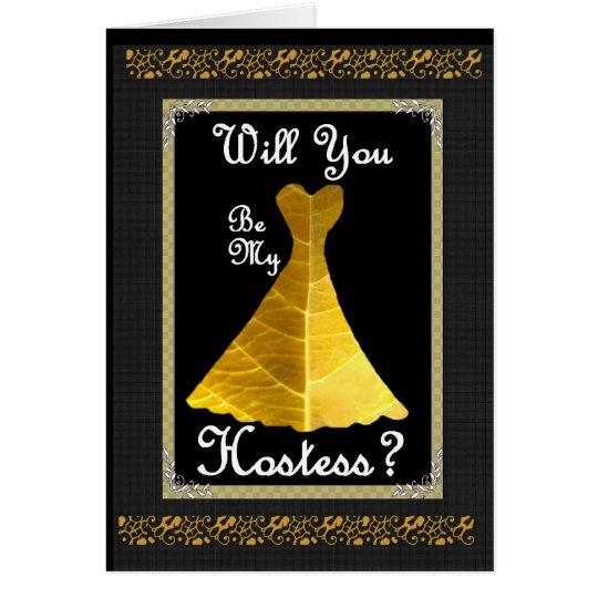 Faire part de mariage d 39 h tesse robe d 39 or for Robes de renouvellement de voeux de mariage taille plus