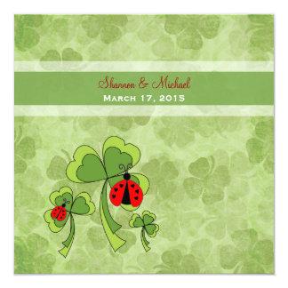Faire-part de mariage d'insecte d'amour du jour de carton d'invitation  13,33 cm