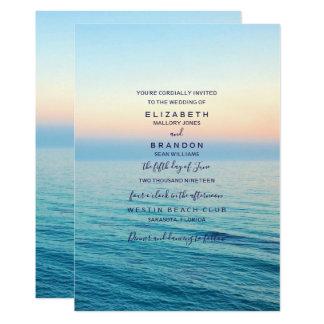 Faire-part de mariage d'océan de plage de cieux de