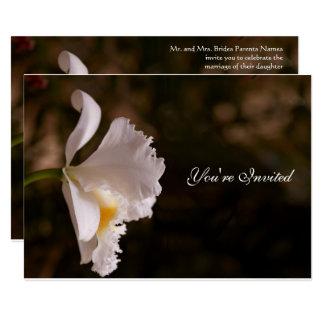 Faire-part de mariage d'orchidée