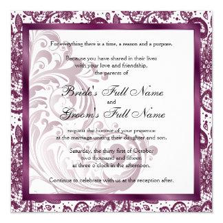 Faire-part de mariage élégant - pourpre