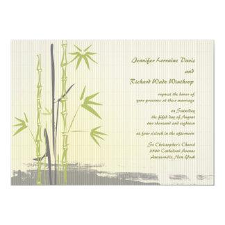 Faire-part de mariage en bambou