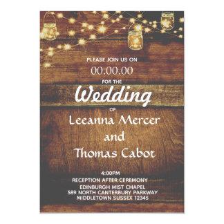 Faire-part de mariage en bois rustique fascinant