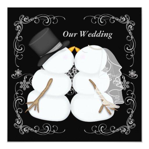 faire part de mariage fait sur commande d 39 hiver zazzle. Black Bedroom Furniture Sets. Home Design Ideas