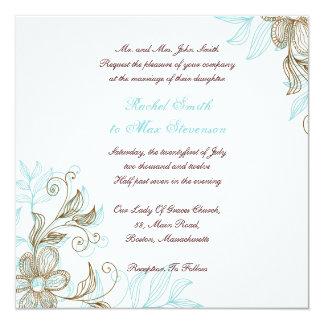 Faire-part de mariage floral