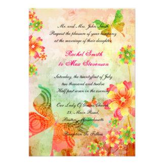 Faire-part de mariage floral d'art de nature
