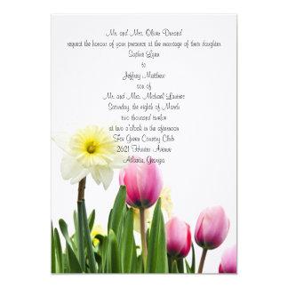Faire-part de mariage floral de printemps