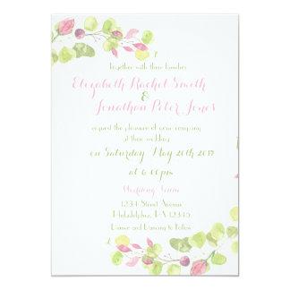 Faire-part de mariage floral de ressort