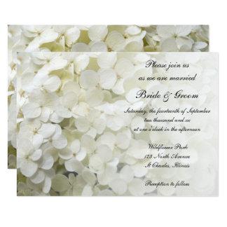 Faire-part de mariage floral d'hortensia blanc