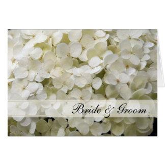 Faire-part de mariage floral d'hortensia blanc carte de vœux