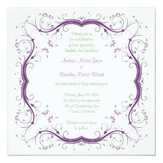 Faire-part de mariage floral personnalisable