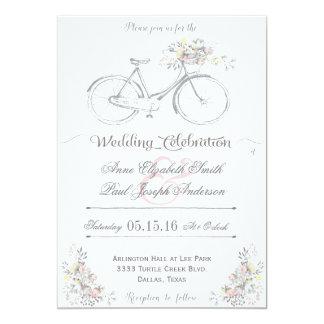 Faire-part de mariage floral rustique III
