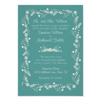 Faire-part de mariage floral sensible