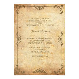 Faire-part de mariage floral vintage