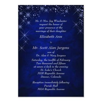 Faire-part de mariage formel bleu de nuit étoilée