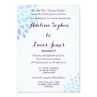 Faire-part de mariage formel d'hortensia bleu