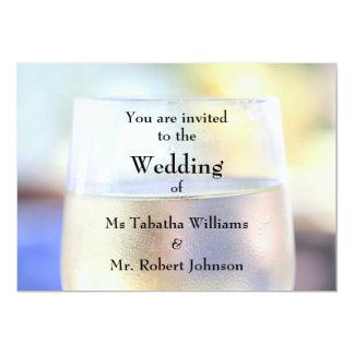 Faire-part de mariage frais d'impression en verre