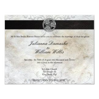 Faire-part de mariage gaélique irlandais de noeud carton d'invitation 10,79 cm x 13,97 cm