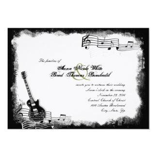 Faire-part de mariage génial de musique de guitare
