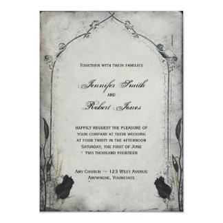 Faire-part de mariage gothique de treillis de rose