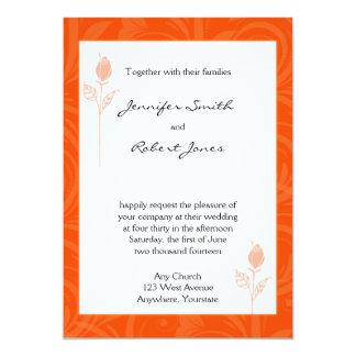 Faire-part de mariage graphique rose d'orange