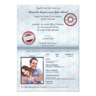 Faire-part de mariage II de passeport de l'Italie