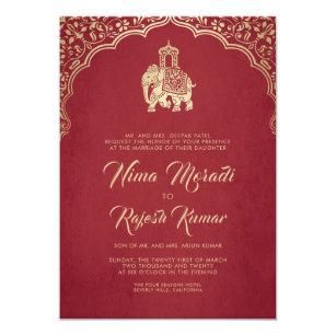Faire part mariage indien pas cher