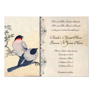 Faire-part de mariage japonais vintage de