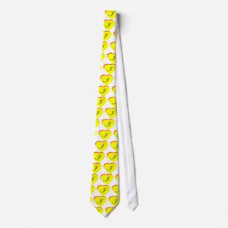 Faire-part de mariage jaune du rouge I de coeur le Cravates Personnalisées