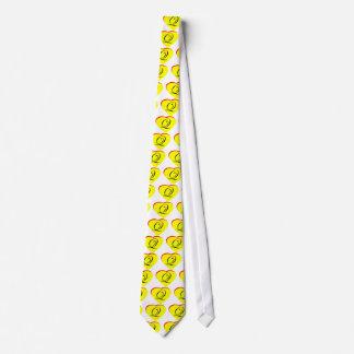 Faire-part de mariage jaune du rouge Q de coeur le Cravates Personnalisables