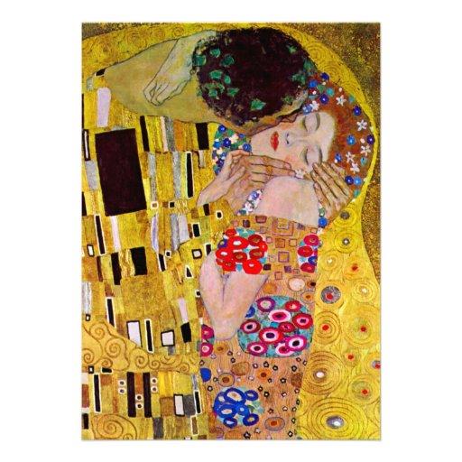 Faire-part de mariage ; Le baiser par Gustav Klimt