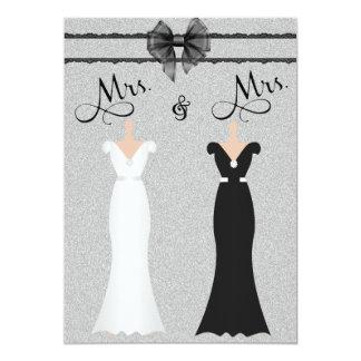Faire-part de mariage lesbien élégant de jeunes carton d'invitation  12,7 cm x 17,78 cm