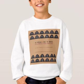 FAIRE-PART DE MARIAGE/Mariage, brun Sweatshirt