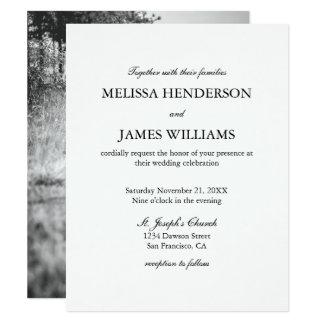 Faire-part de mariage minimaliste simple de photo