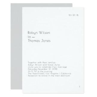 Faire-part de mariage moderne 5x7 de page de livre
