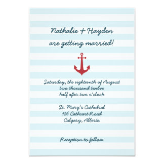 Faire-part de mariage nautique carton d'invitation  12,7 cm x 17,78 cm