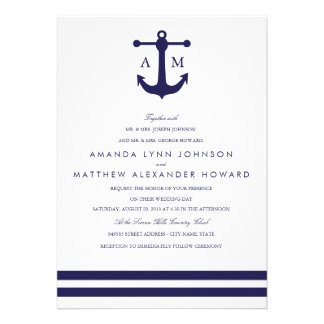 Faire-part de mariage nautique de marine