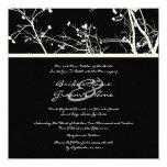 Faire-part de mariage noir et blanc d'arbre carton d'invitation  13,33 cm