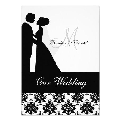 faire part de mariage noir et blanc de couples de carton d. Black Bedroom Furniture Sets. Home Design Ideas