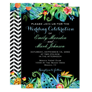 invitations faire part mariage tropical personnalis s. Black Bedroom Furniture Sets. Home Design Ideas