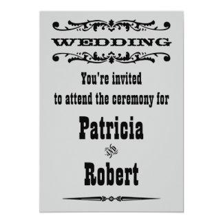 Faire-part de mariage occidental