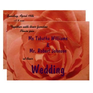 Faire-part de mariage orange-clair mignon