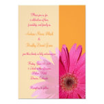 Faire-part de mariage orange et rose de marguerite