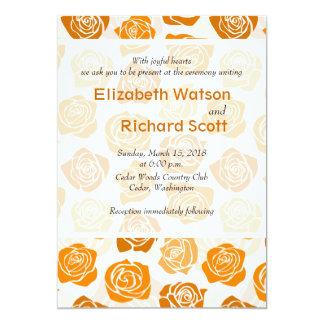 Faire-part de mariage orange vintage de roses