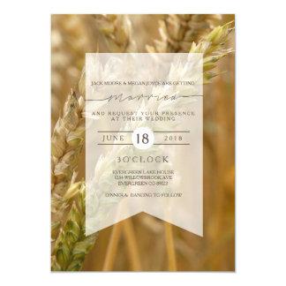 Faire-part de mariage organique du blé |
